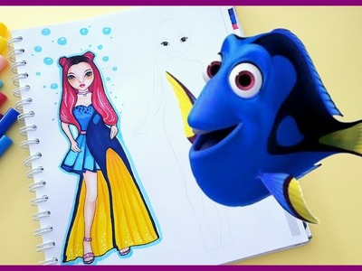 Topmodel Malbuch | How to draw DORY DRESS | Inspiration Friday || Foxy Draws