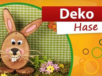 ???? Deko Hase basteln - Osterhase aus Holz basteln ???? malen - trendmarkt24 Bastelideen DIY