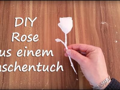 DIY Anleitung: Rose aus Taschentuch falten - einfach und schnell
