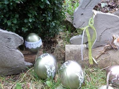 DIY-BETON: Glänzend-EDLE DEKO Eier basteln aus SELBST gemachtem BETON, How-to
