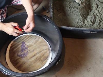 DIY Blumenkübel aus Beton für Zuhause gießen. Pour flower pots made of concrete for home