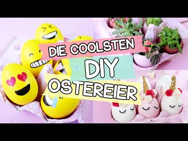 DIY Emoji, Einhorn & Bepflanzte Ostereier ♥ Coole Ostereier mal anders selber machen