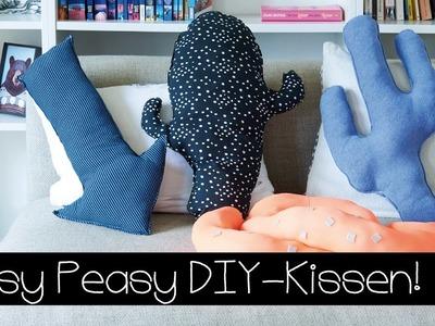 DIY | KISSEN SELBER NÄHEN | KAKTUS-KISSEN | PFEIL-KISSEN