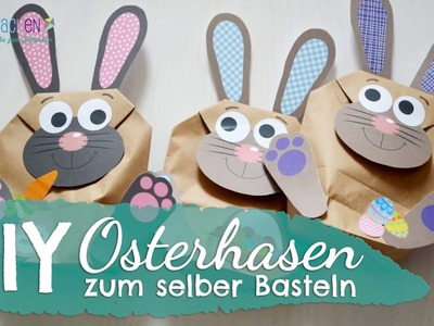DIY Osterhasen Tüten zum selber Basteln - von Papierdrachen