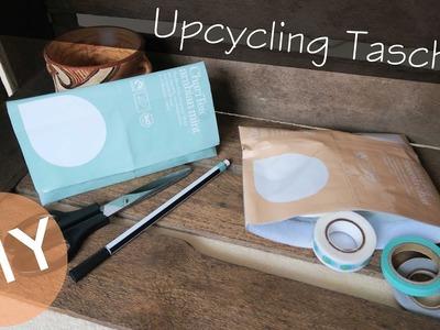 DIY Upcycling Tasche - Kosmetiktasche, Reisetäschchen, ChariTea Verpackung