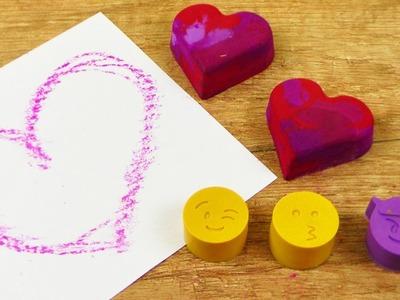 Emojis aus Wachsmalkreide ???? Süße DIY Idee für Wachsmalstifte Reste DIY Fun Idee