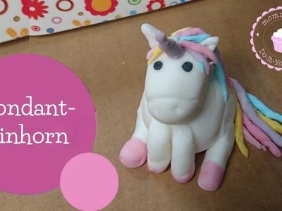 Fondant Einhorn kneten | Unicorn Cake Topper | DIY Anleitung | mommymade