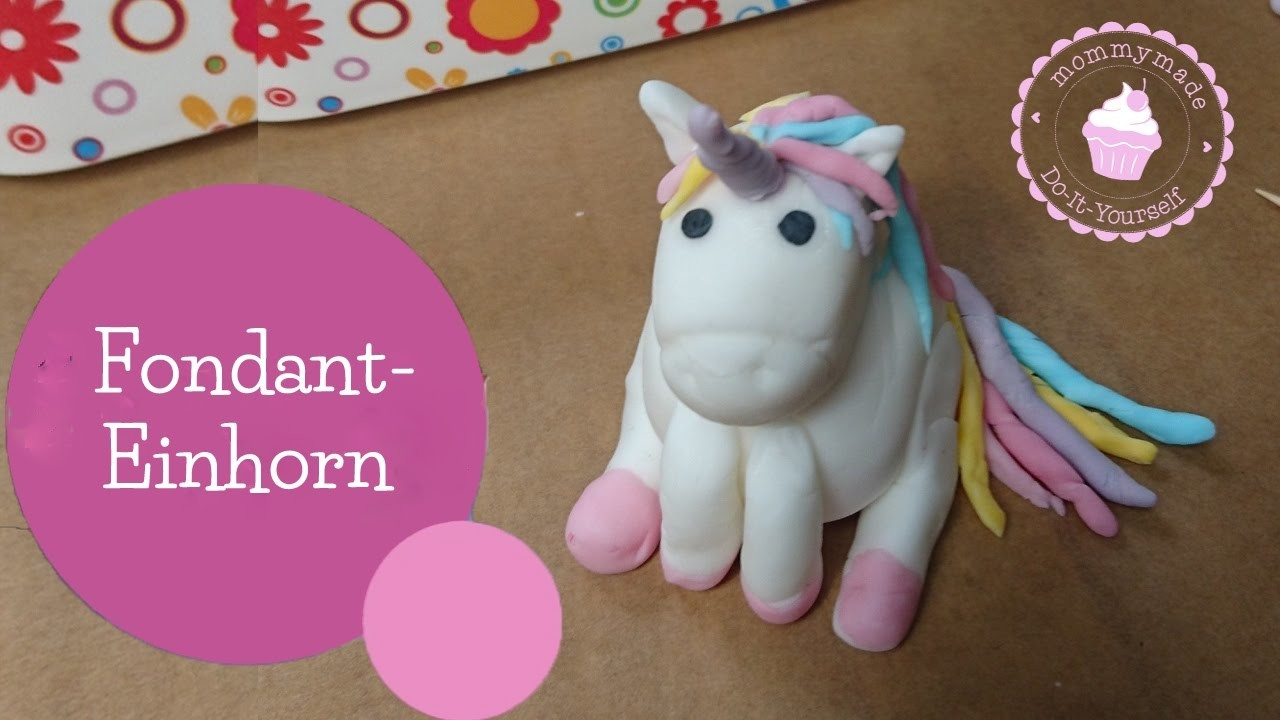 fondant einhorn kneten unicorn cake topper diy anleitung. Black Bedroom Furniture Sets. Home Design Ideas