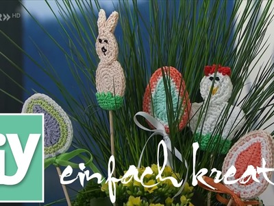 Frühlingshafte Blumenstecker häkeln I DIY einfach kreativ