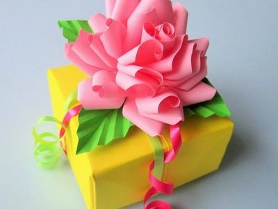 Geschenkbox aus Papier.  DIY.
