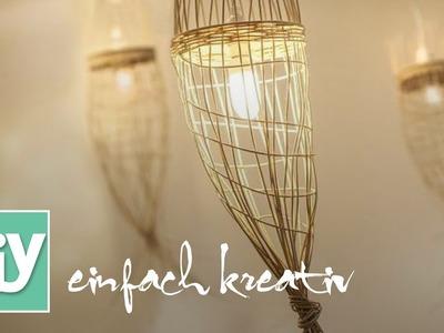 Lampenschirmchen aus Flechtrohr | DIY einfach kreativ
