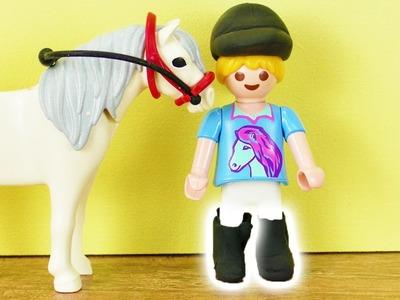 Playmobil DIY | Reitstiefel für Hannah Vogel selber machen  aus Silk Clay