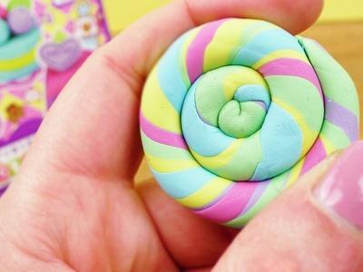 Radiergummi aus bunten Knete Resten machen | Regenbogen Lolli | einfach & schnell DIY