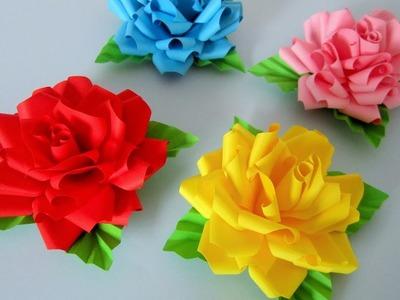 Rosen aus Notizzetteln. DIY