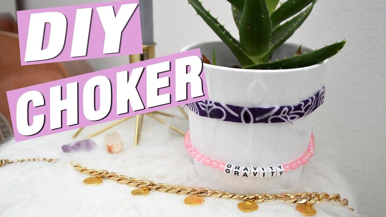DIY Choker - 3 Choker Ketten Selber machen!