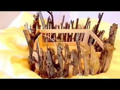 DIY: DEKO Kiste, PFLANZ Gefäß ; mit nur 2 Materialien BASTELN, Upsycling How to