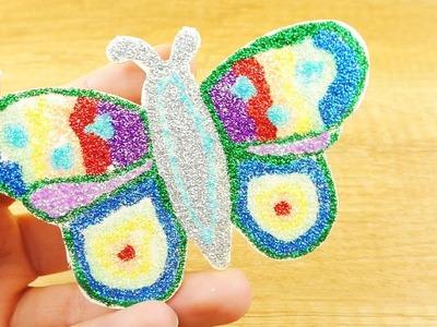Glitzer Schmetterling | Tolle DIY Deko für den Frühling | Basteln mit Glitzer Kleber | Kids