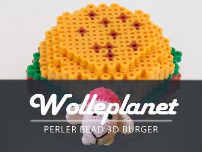 Perler Bead 3D Burger