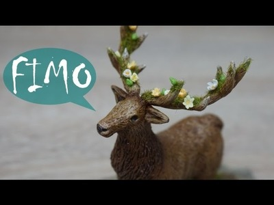 Spring Awakening ~ Hirsch. Stag ~ Fimo. Polymerclay. Tutorial