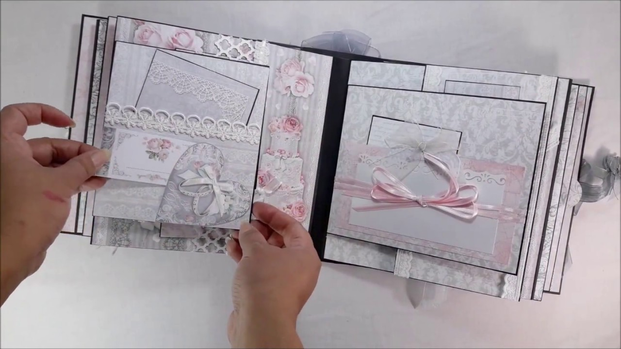 DannyCraftShop - Scrapbook Handmade Wedding Mini Album #16 *SOLD*