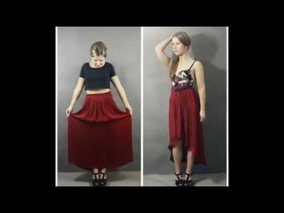 DIY Kleidung. Upcycling Kleidung - Maxirock zum Vokuhilarock