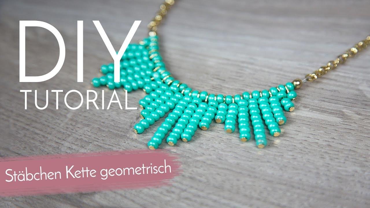 Geometrische Kette mit Stäbchen - DIY Anleitung
