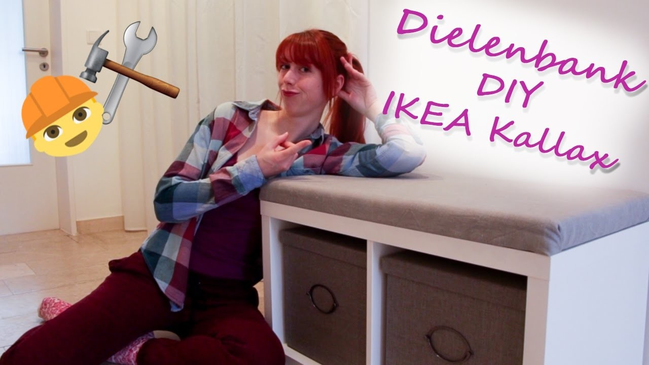 ikea hack dielenbank diy mit helena kallax regal. Black Bedroom Furniture Sets. Home Design Ideas