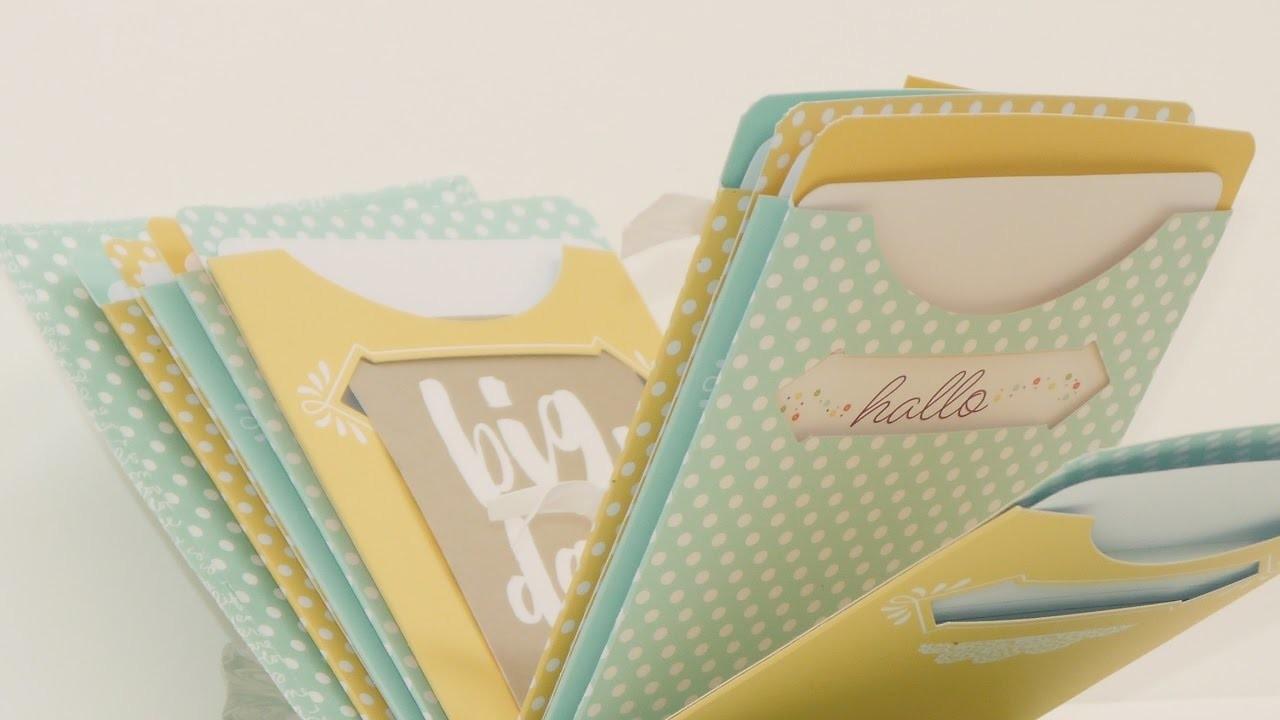 Mini Scrapbook aus Kartenhüllen von Stampin Up basteln