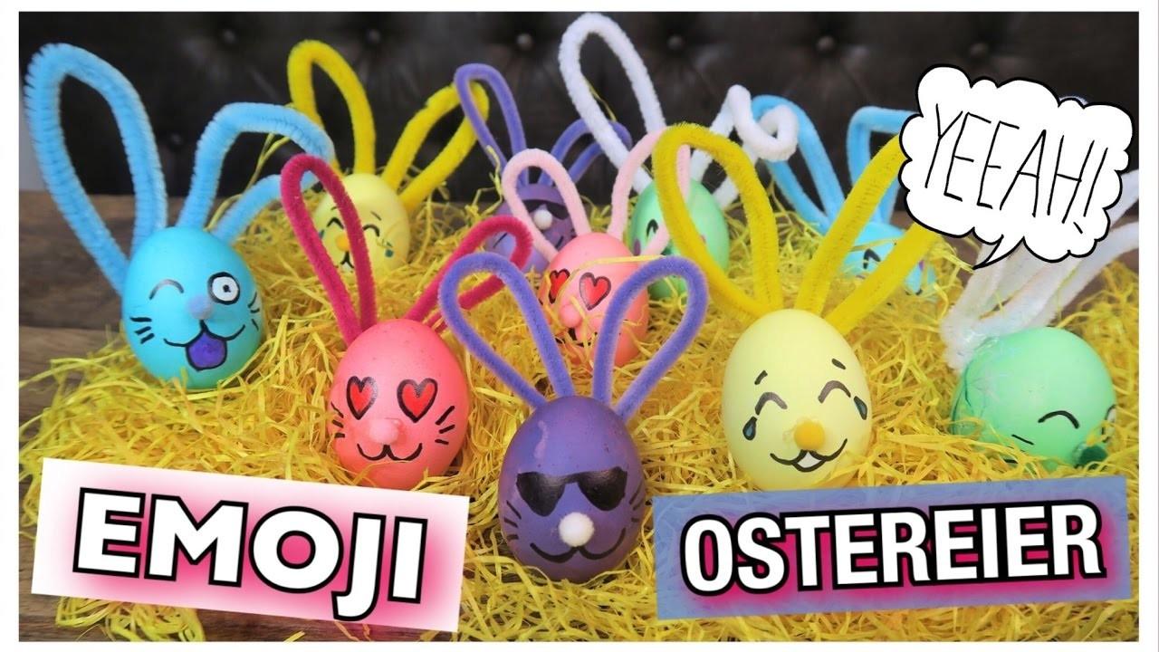 Oster Diy Emoji Hasen Ostereier Färben Coole Mädchen