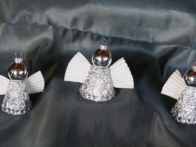 Engel basteln.tinker angel–Weihnachtsdeko–super einfach und schnell