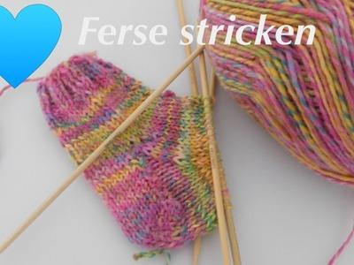 Die Herzkäppchen Ferse | Socken stricken -Die Ferse